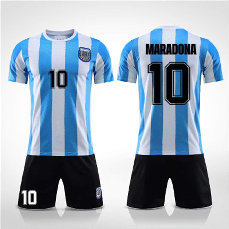 Maradona Trikot shengyuefeng Argentinien 1986 Trikot Gedenk Trikot Argentinien Trikot Maradona F/ür Maradona No.10 Herren Fu/ßballuniform Argentinien Trikot 86