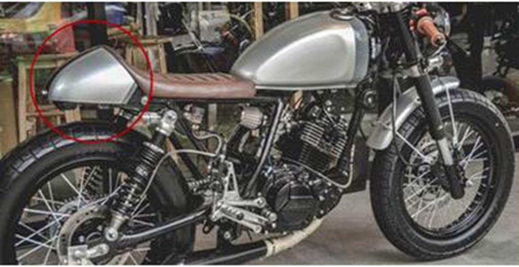 Beige Homyl Couverture De Capot De Selle Arri/ère De Moto Universelle pour Motocycliste