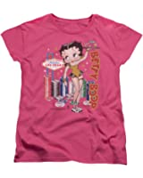 Betty Boop Cartoon Character Icon Viva Las Vegas Pin-Up Women's T-Shirt Tee