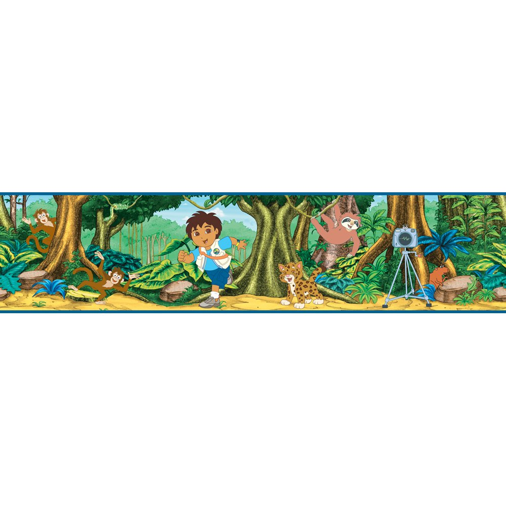 Blue Mountain Wallcoverings NS026444 Go Diego Go Self-Stick Wall Border