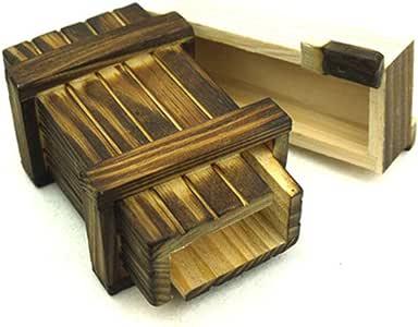 Amasawa Caja Secreta,Caja De Regalo De Madera Mágica, para Regalos Creativos, Joyas y Dinero (Sola Caja Abierta): Amazon.es: Hogar
