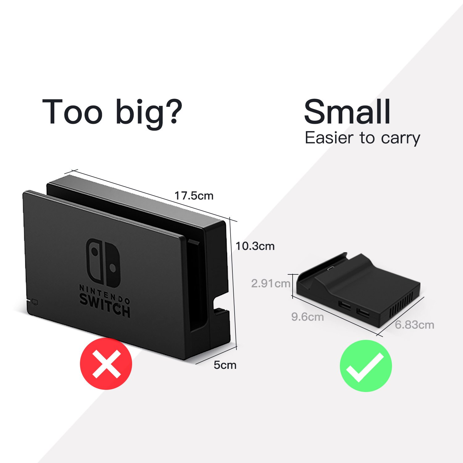 Basstop Portable Dock Replacement Case For Nintendo Custom Mod Micro Usb Flash Drive Diy Modding And Switch Only The You Have To With Circuit Board Chip From Original