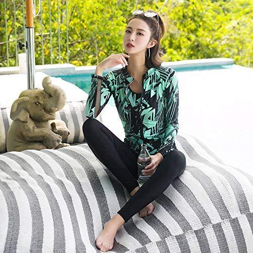 Fleurs coloré Sau 4 Oudan Summer Fragiles Comme Sunscreen Bain Montré Pants Split Sports De Montré Flat Vert Maillot Unique En Fils Pièces Taille rgqT6