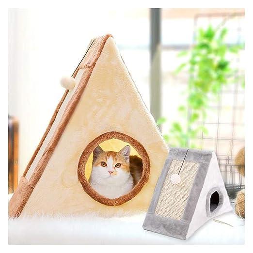 Cat Tree, Sisal Cat Scratch Plate Cerrado Plumero de Gatos ...