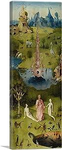 ARTCANVAS The Garden of Earthly Delights - Heaven Panel 1515 Canvas Art Print by Hieronymus Bosch - 36