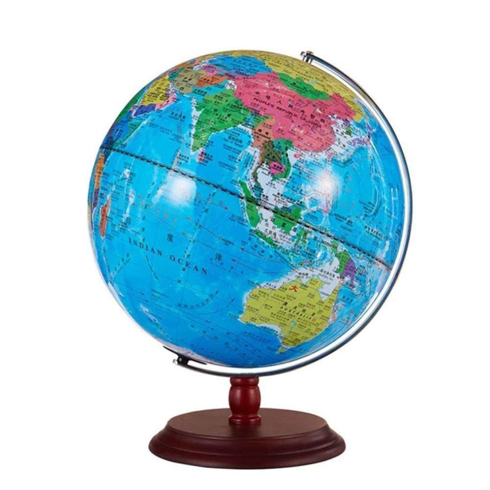 HAOLIN 12-Zoll-Weltkartenkugel,Blaue Erde Floating Globe Kugelkarte Mit LED Lichtern-Für Die Tischdekoration