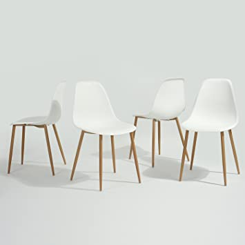 modern chair plastic. GreenForest Dining Chairs Modern Style Plastic Metal Legs With Mood Grain Living Room Office Chair