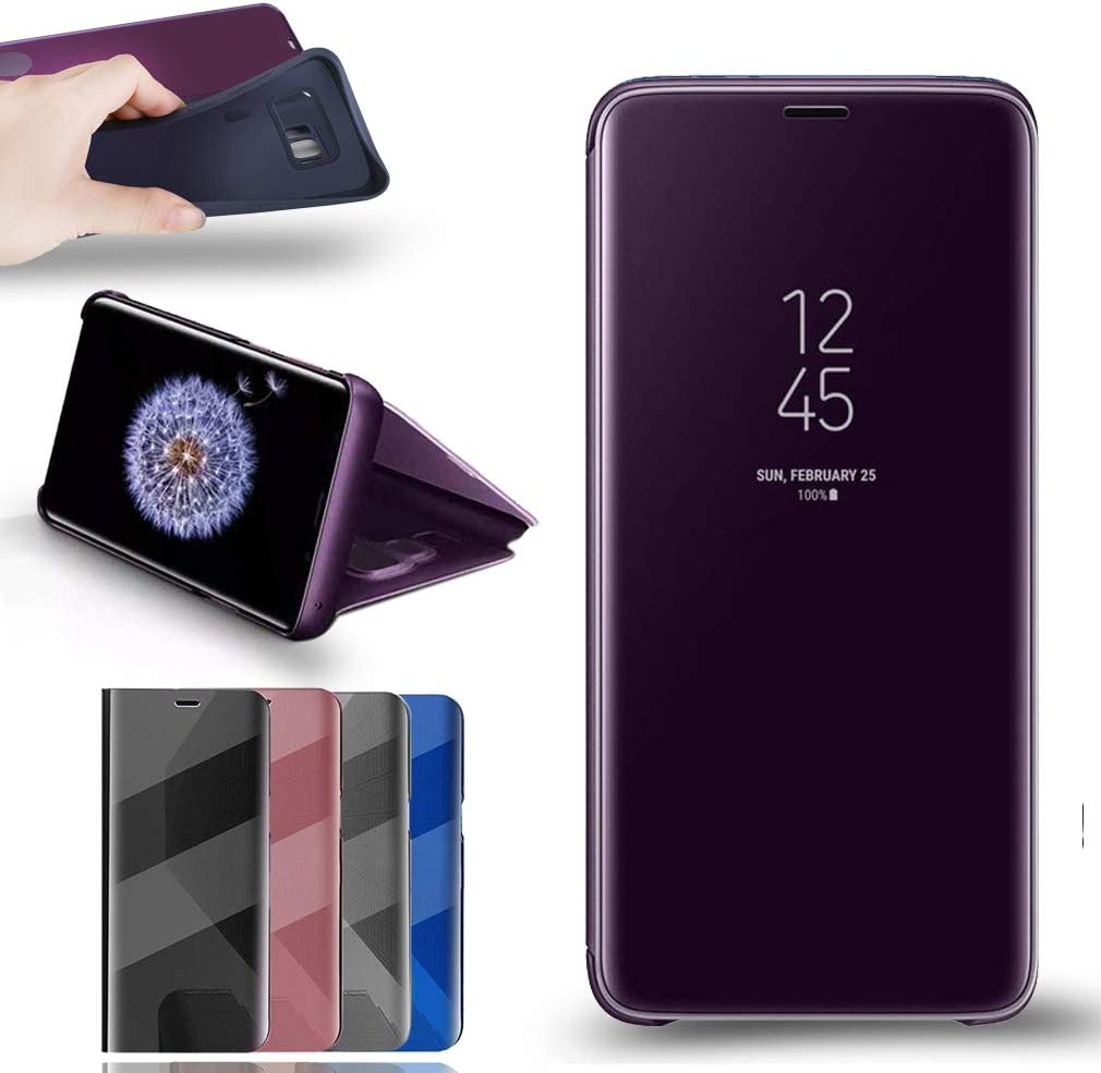 RLGPDON Funda Samsung Galaxy S9 Case Clear View Standing Cover ...