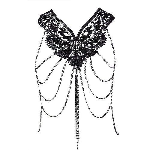 Amazon Com Siywina Body Chain With Pearls Harness Multirow