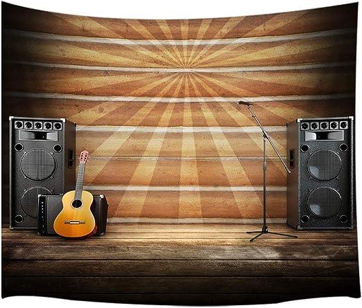 Tapiz de pared JAWO con diseño de guitarra y micrófono en ...