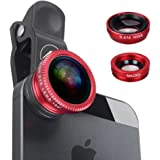 REDLEMON Kit Lentes 3 en 1 iPhone y Android, Lente Macro, Fisheye y Gran Angular Universal para Smartphone y Tablet