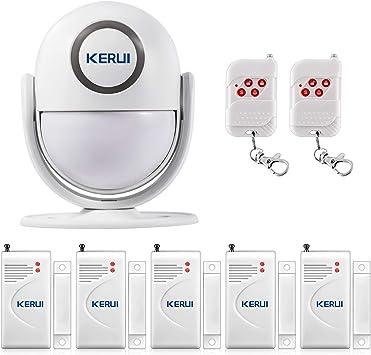 KERUI P6 Sistema Alarma Hogar con Sensor Movimiento Alarma Inalámbrico, Kit Alarma Casa Antirrobo DIY con Sensor Puertas y Ventanas y Control Remoto, Sirena 125 dB para Tienda/Oficina/Apartamento: Amazon.es: Bricolaje y herramientas