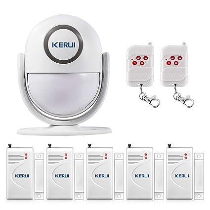 KERUI P6 Sistema de Alarma para el Hogar, Tienda, Oficina, Apartamento, Kit de Alarma Antirrobo DIY con Sensor Inalámbrico de Puertas y Ventanas y ...
