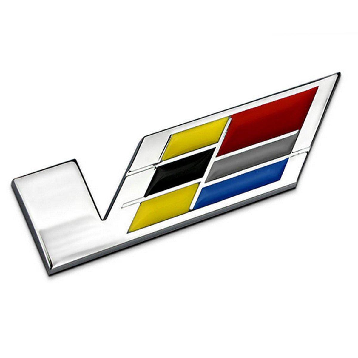 TK-KLZ for Cadillac 3D Metal High Performance Engine V Logo Car Side Fender Rear Trunk Emblem Badge Decals sticker for Cadillac SRX XTS ATS CTS CTS EXT ATS-L COUPE Hybrid ESCALADE Decoration 96887