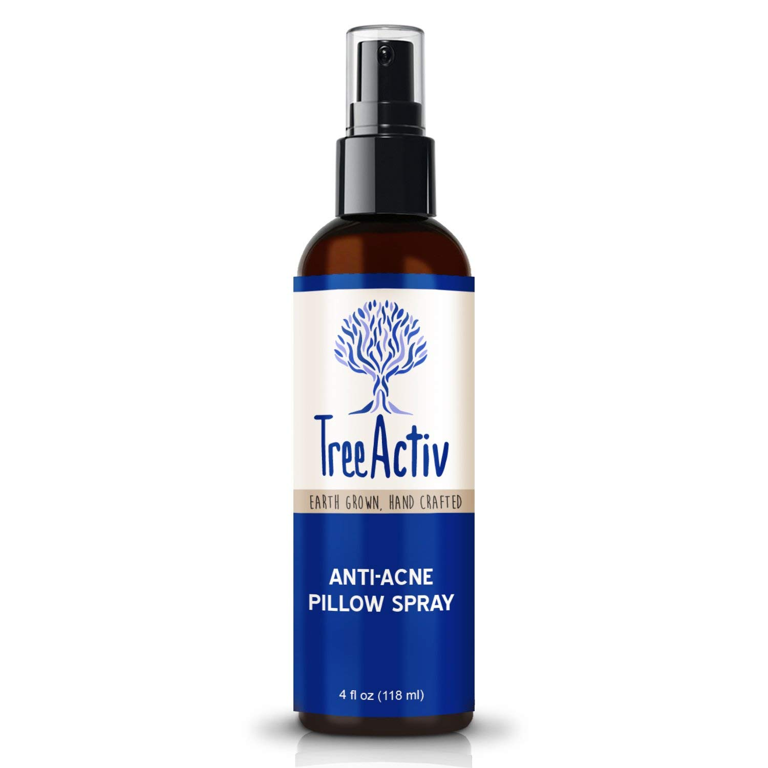 TreeActiv Anti-Acne Pillow Spray | Kills Acne Causing Bacteria | Relax Your Mind & Body | Cleans Fabric, Bedding, Clothing, Carpet & Furniture | Lavender, Peppermint, Tea Tree, Clary Sage | 4 fl oz