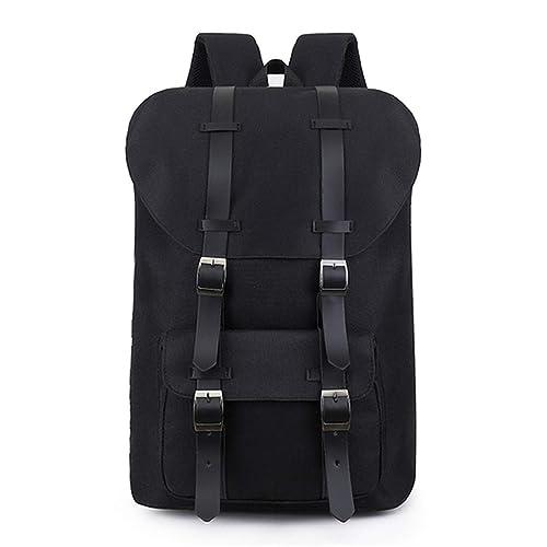86012f271 Large capacity Man travel bag Women Laptop backpack Waterproof Oxford shoulder  bag Canvas Backpacks,Black