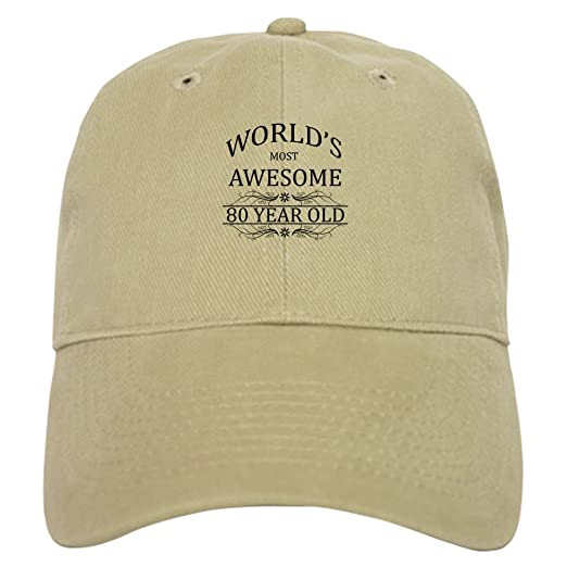 992d3176c62 CafePress - World s Most Awesome 80 Year Old - Baseball Cap with Adjustable  Closure