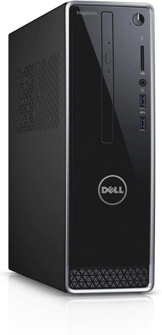 Dell Inspiron 3470 Desktop, Intel Quad Core i3-8100, 4GB DDR4, 1TB HDD, WIFI, DVDRW, Windows 10, Black, Dell Warranty (Renewed)