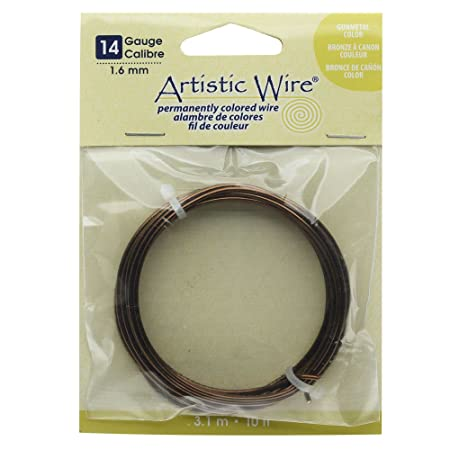Artistic wire 14 gauge wire antique brass 10 feet amazon artistic wire 14 gauge wire antique brass 10 feet greentooth Gallery