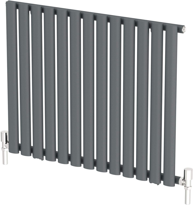 Horizontal Radiator Anthracite Grey Designer Double Panel Wall Mounted Modern 600 x 1020mm