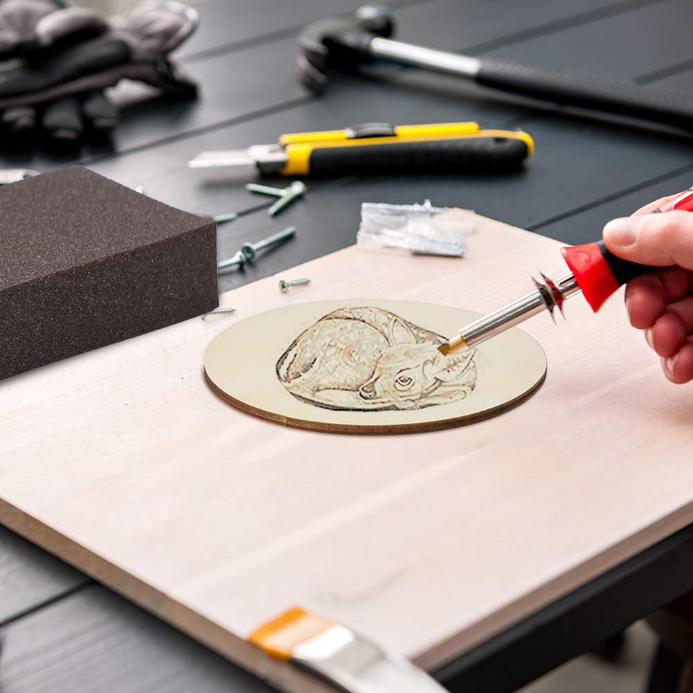 4 x 4 pulgadas de di/ámetro cuadradas 24 piezas de madera sin terminar 12 piezas de rodajas de madera natural redondas para bricolaje suministros de manualidades posavasos pirograf/ía pintura