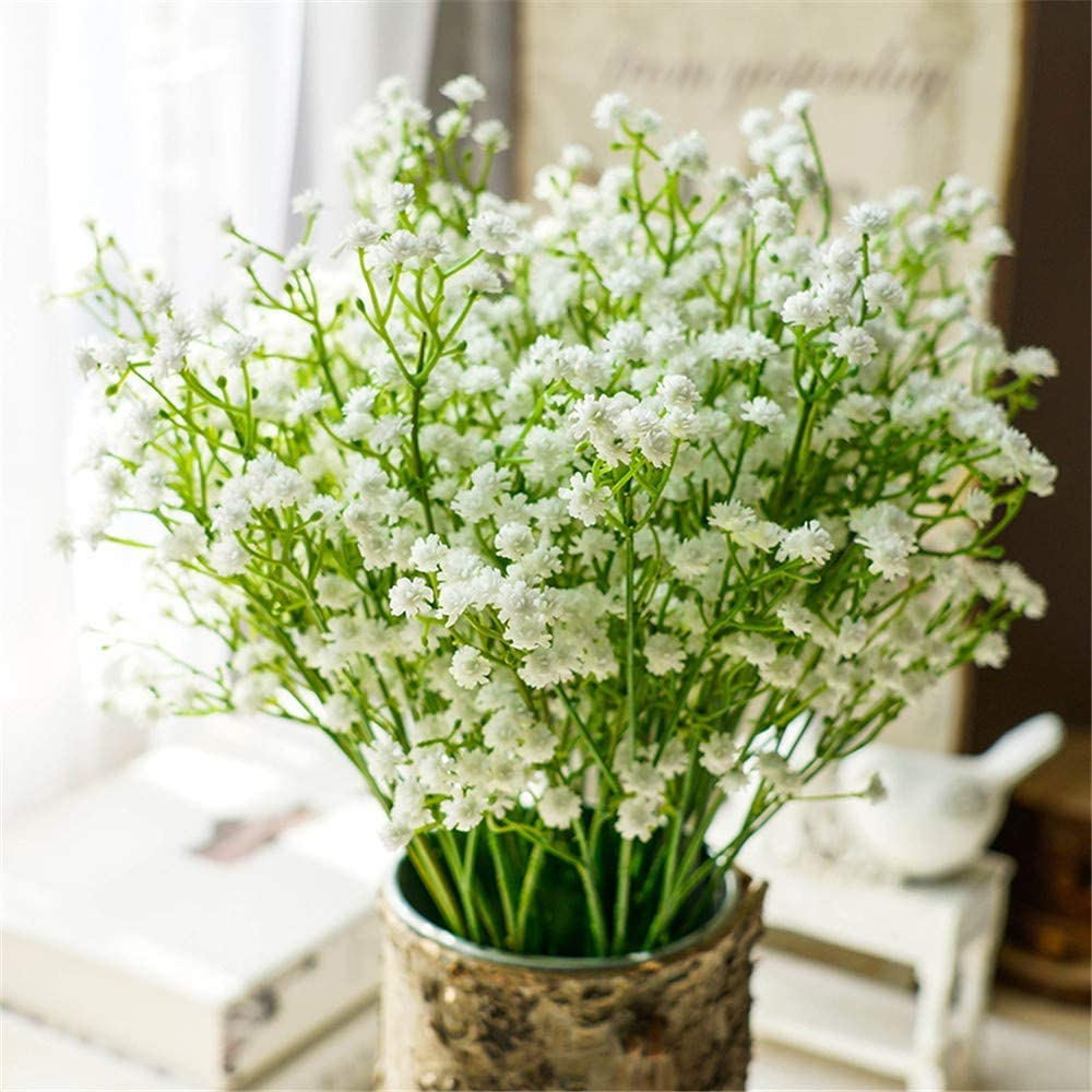 Nerseki 10pc Artificial Baby Breath Gypsophila Flower Wedding Home Decor Gift