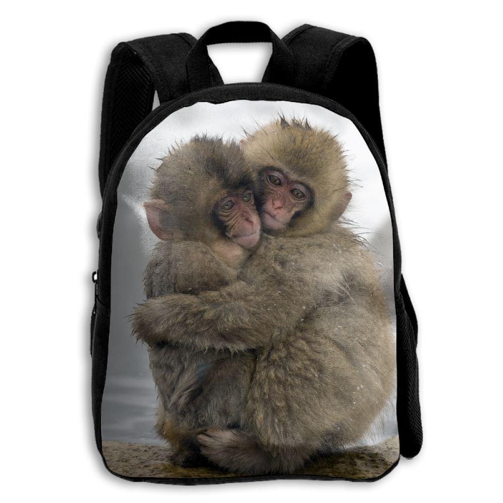 2つ雪Monkeys Huggingを印刷耐久性Kid 'sミニバックパック B07C73L3MR