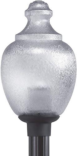 Solus 2017CL-LE26W Acorn Globe Post Mount Fixture Warm Light 3000K LED Bulb