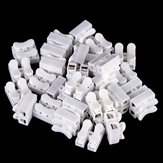 30Pcs Electrical Cable Connectors Quick Splice Lock Wire Terminals Self LockinG1