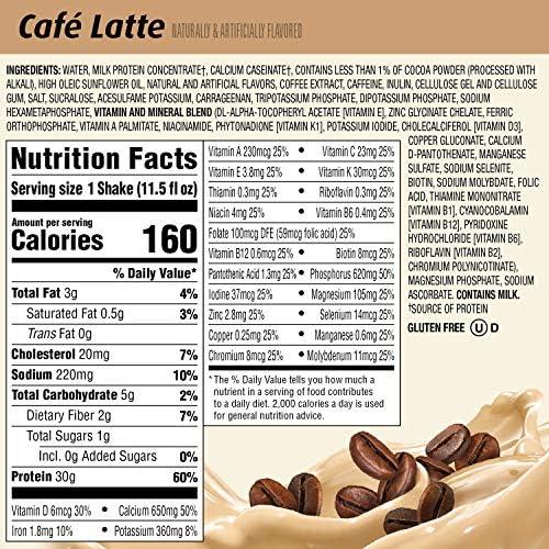 Premier Protein 30g Protein Shake, Cafe Latte, 11.5 Fl Oz, Pack of 12, Café Latte 6