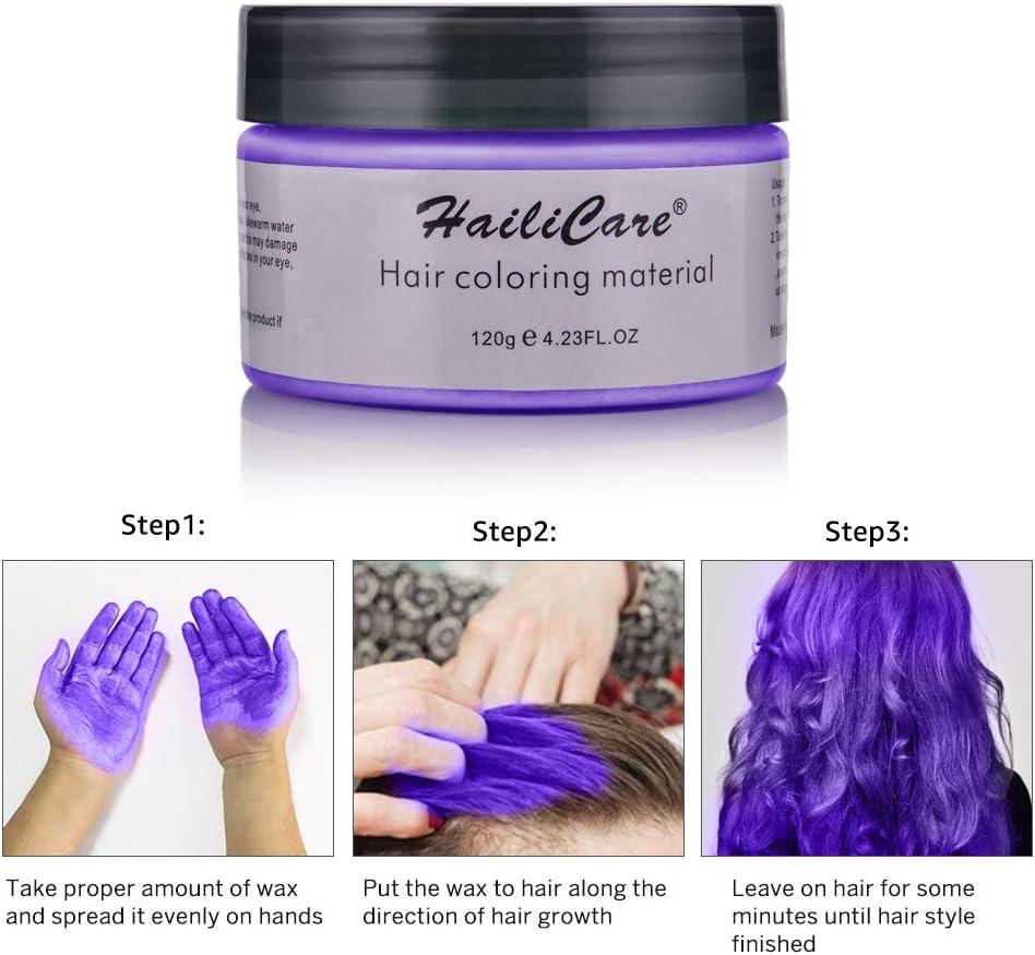 Cera para el cabello, Crema para el pelo, MS.DAER temporal pelo Color cera de pelo profesional, para hombres mujeres con 4 colores