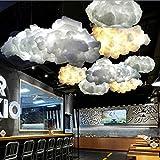 White Floating Cloud Pendant Restaurant Bar Lamp Fixture For Indoor Decoration - Indoor Lighting Chandeliers & Pendants - 1 x Cloud Pendant Light