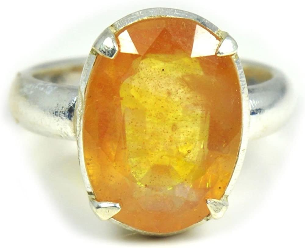 Sapphire Birthstone Ring for Women Micron Gold Plating Ring US 3 to 15 925 Sterling Silver Ring Personalized Gift Yellow Sapphire Ring