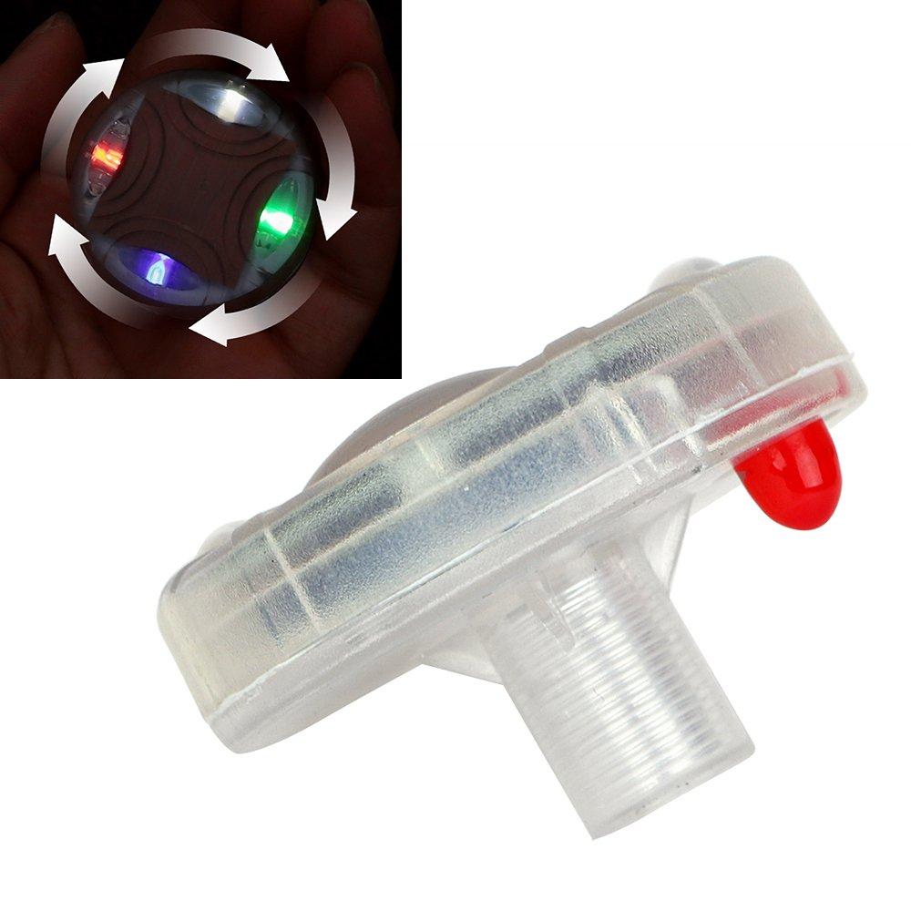 Voiture Dé cor lampe Vannes de roue de moto lumiè re Pneu Bouchons de valve solaire chargement lumiè re LED 1 piè ce Holdream