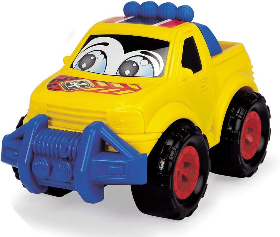 Multicolore Luce e Suoni Bambini a Partire da 1 Anno in su Dickie Toys Happy Runner Auto Giocattolo 203814017 Veicoli da Cantiere 6 Diverse