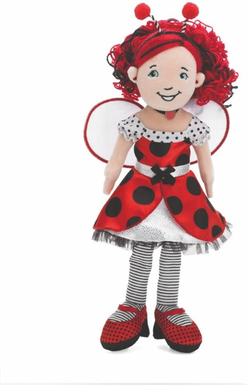 Doll Clothes-fit Mini American Girl My Life-2 Dress-Y Ladybug Dots