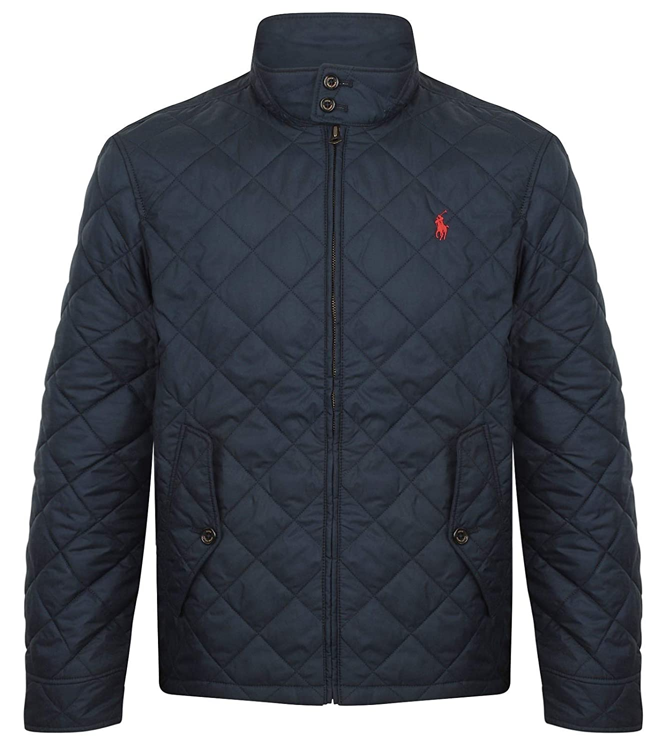 6c68a528b6e1 Polo Ralph Lauren Men s Quilted Barracuda Jacket Navy  Amazon.co.uk   Clothing
