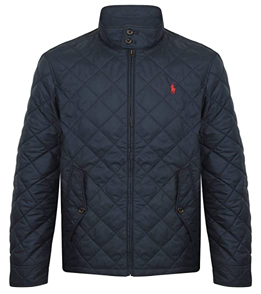 385f524bfd Polo Ralph Lauren Men's Quilted Barracuda Jacket Navy: Amazon.co.uk ...