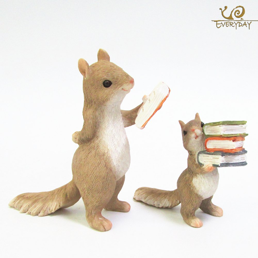 VT BigHome Home Decoration Accessories Cute Animal Hedgehog Squirrel Rabbit Resin Miniature Figurines Birthday Gift by VT BigHome (Image #4)