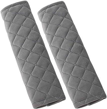 Gray MLOVESIE 2 Packs Car Seat Belt Pads Plush Soft Seatbelt Cover Cushion Shoulder Strap Protector,30cm