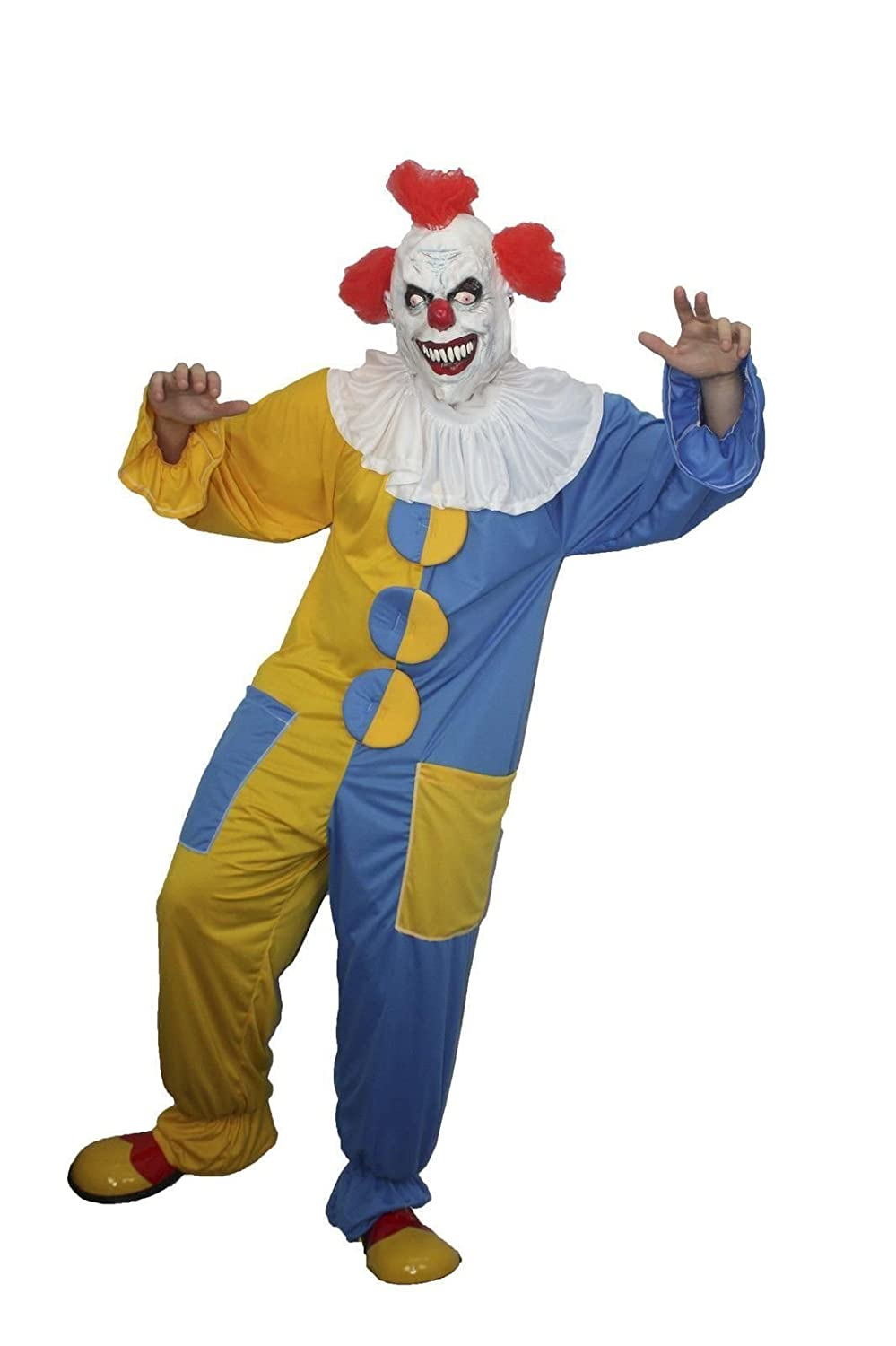 IT the Clown Costume Scary Halloween Fancy dress Circus Amazon.co.uk Toys u0026 Games  sc 1 st  Amazon UK & IT the Clown Costume Scary Halloween Fancy dress Circus: Amazon.co ...