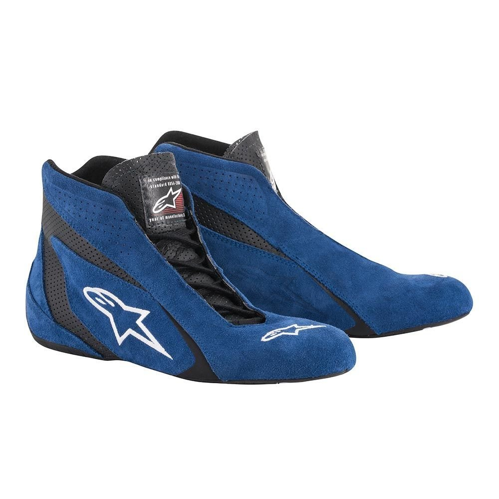Alpinestars 2710618-713-13 SP Shoes , Blue/Black, Size 13, SFI 3.3 Level 5/FIA, Suede