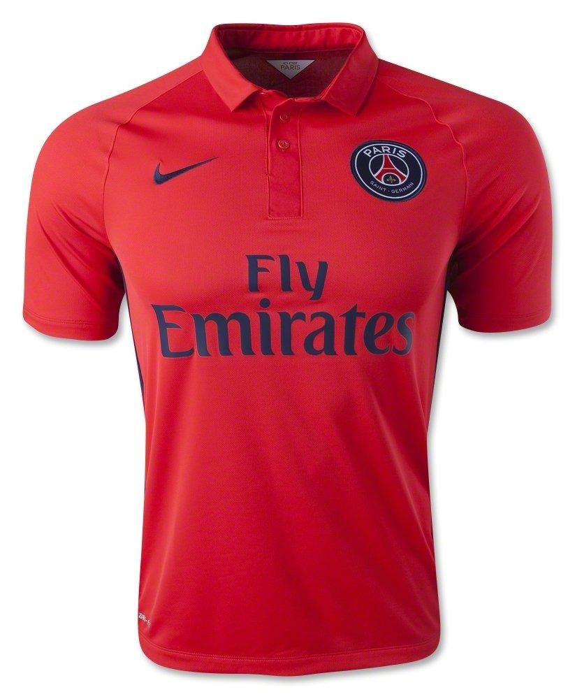 Nike Fußballtrikot 2014-2015 David Luiz 32 Paris Saint-Germain FC Fußballtrikot Stadion Version PSG Herren L