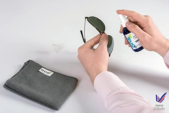 please amend the title to: Líquido Limpiador óptico de Gafas y Lentes con toalla de Microfibra Fina 100ml: Amazon.es: Electrónica