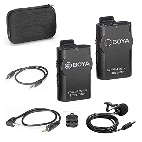 Boya by-wm4 inalámbrico Lavalier Sistema de micrófono para iOS ...