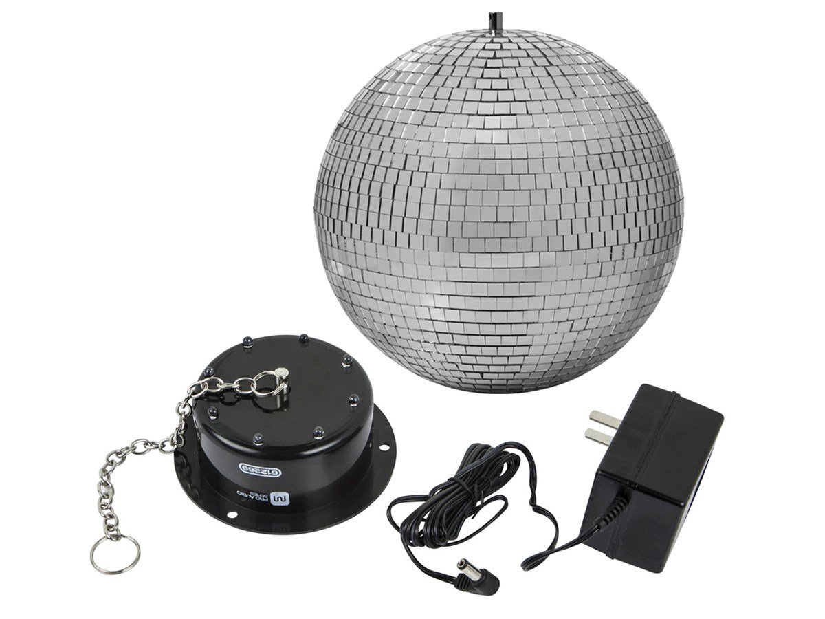 Monoprice Stage Right 10-inch Mirror Ball & Motor with LED Lights 612265