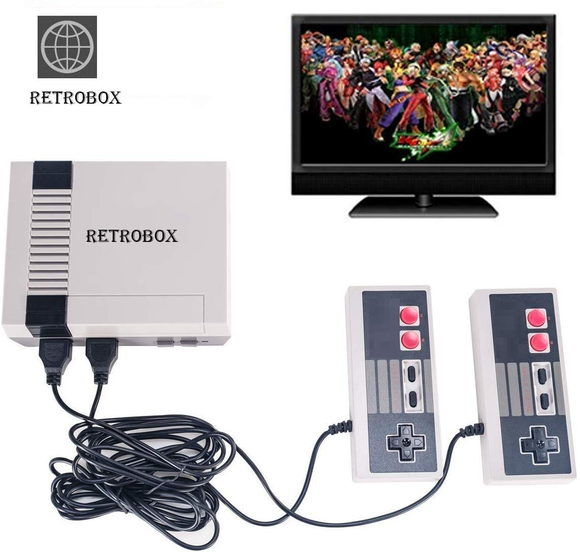 Retro Classic Game Console Retro Childhood Game Classic Game Consoles Built-in 620 Childhood Classic Game Dual Control 8-Bit Console Handheld Game Player Console for Classic Games Family TV Video by RetroBox (Image #8)