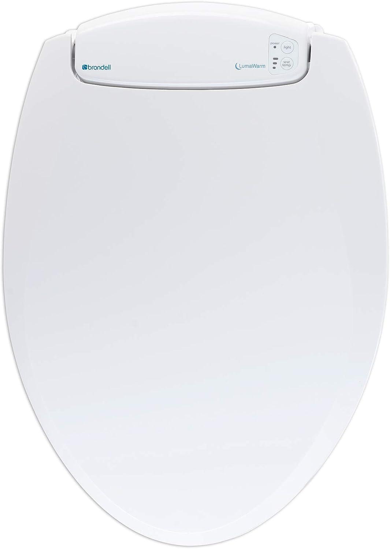 Brondell LumaWarm Heated Nightlight Toilet Seat - Fits Elongated Toilets, White