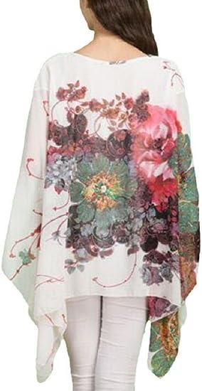 Dizoe Camisetas y Tops Blusas y Camisas Mujer Estampadas Flores ...