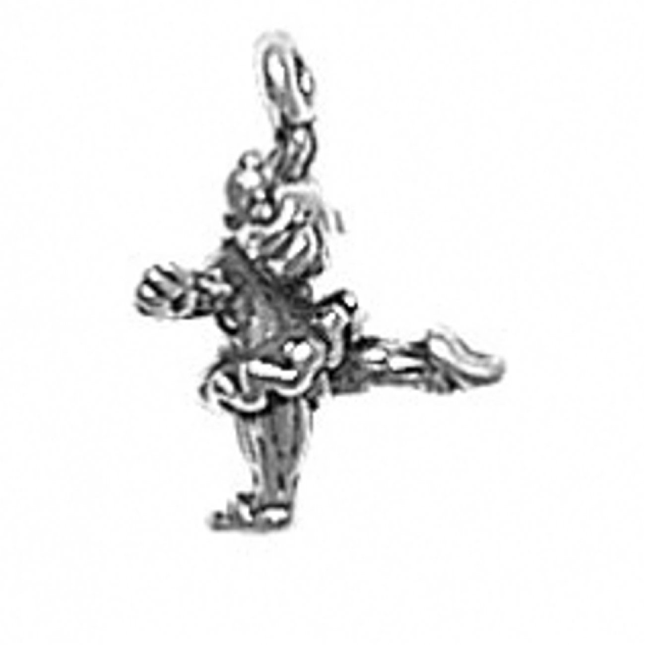 Sterling Silver Girls .8mm Box Chain 3D Ballerina Pendant Necklace